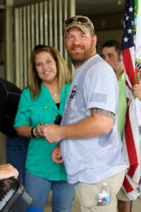 Veterans supporter Sharon Fordyce and Ken Meyer