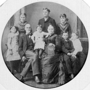 Sandford and Sallie Gibbs With Family