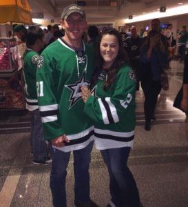 Abby with fiancé Ryan Boyd at season opener